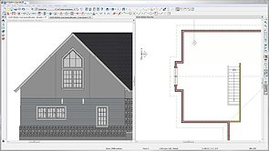 Drawing A Flat Roof With Center Drain And Parapet Walls