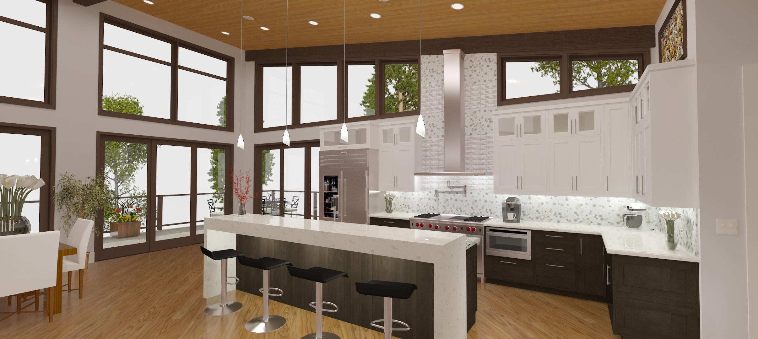 Superieur Kitchen Part 2, Waterfall Island U0026 Construction Drawings   Breckenridge  Home Design