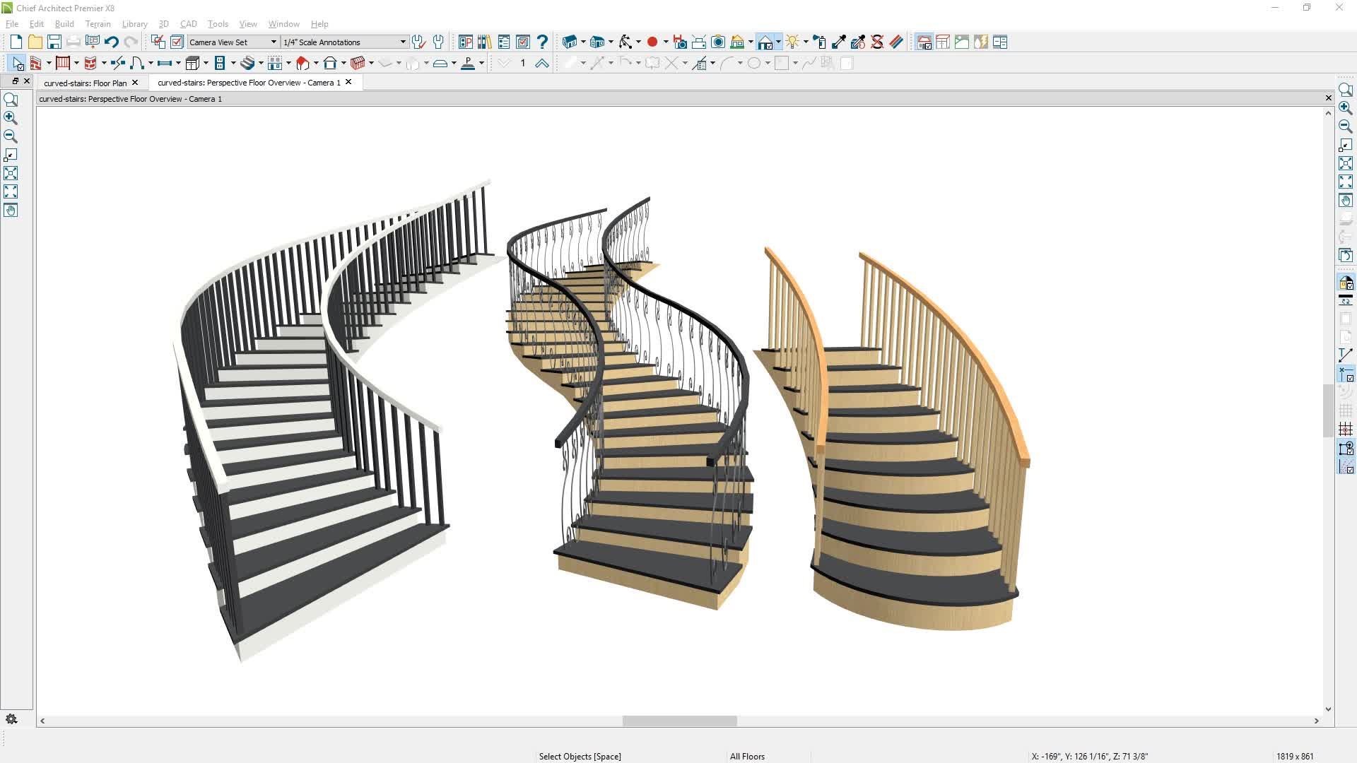 Drawing Curved Stairs
