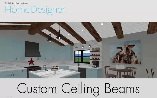 Home Designer Quick Tip - Custom Beams