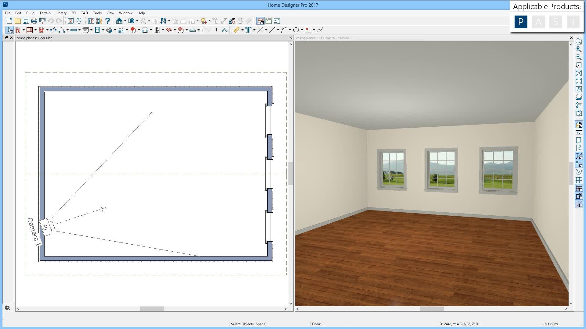Custom Ceiling Planes - Home designer pro