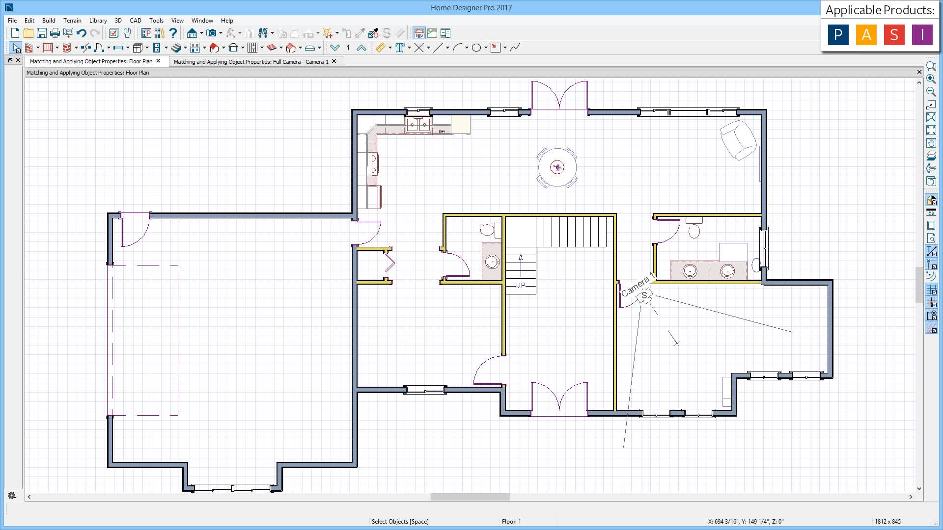 Using The Object Eyedropper And Object Properties Painter - Home designer pro