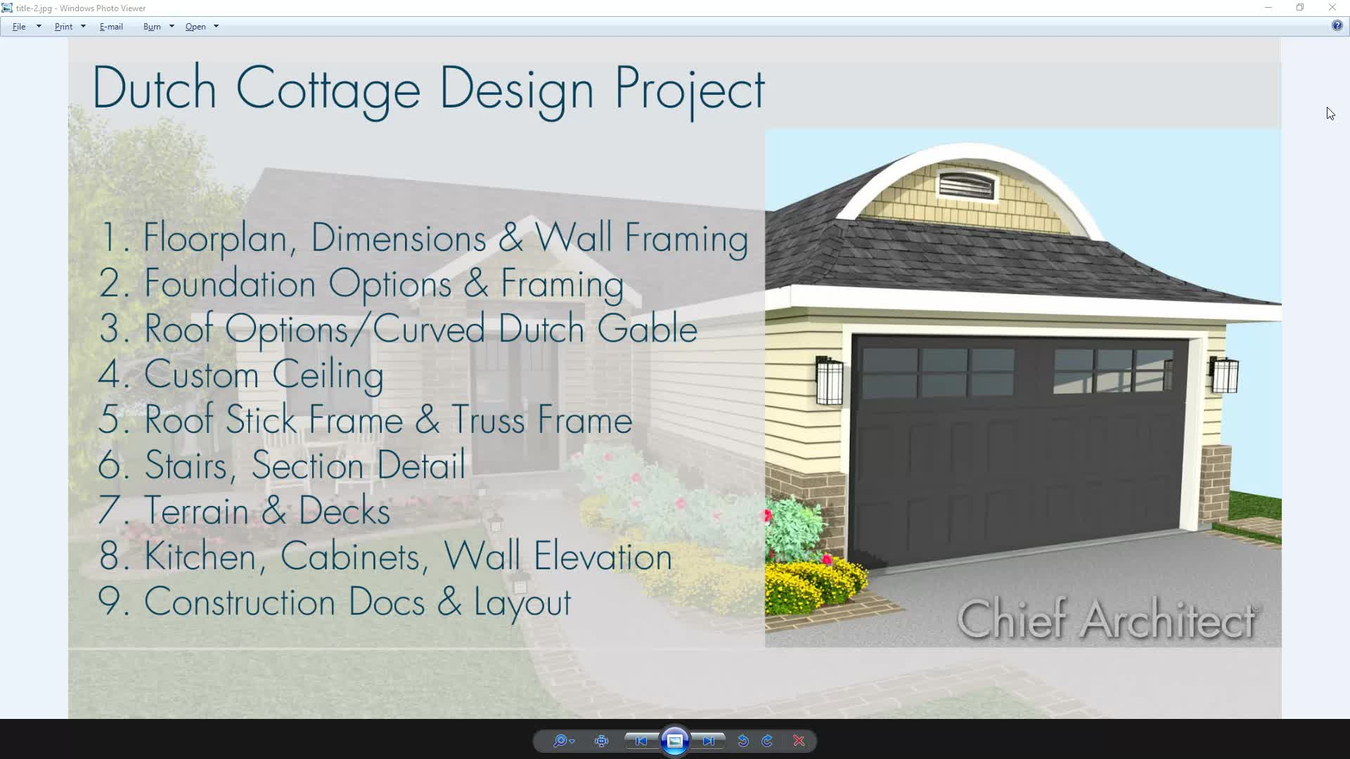Custom Vaulted Ceiling - Dutch Cottage Design