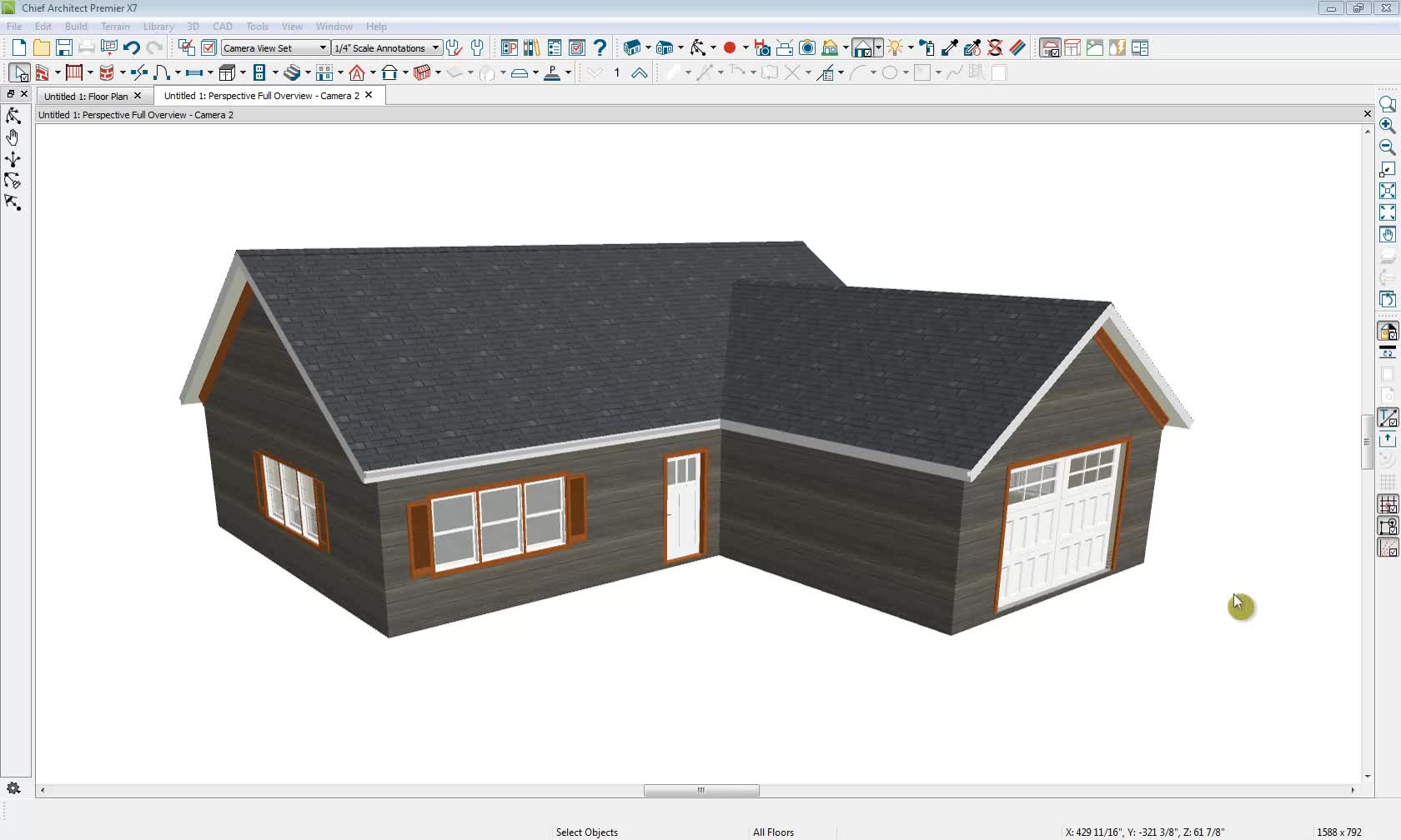 Generating A Roof Over An L Shaped House With Gable Ends